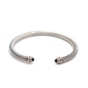 David Yurman Onyx Diamond 5mm Cable Bracelet